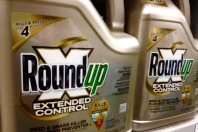 The U.S. Environmental Protection Agency identified glyphosate, a chemical used in the herbicide Roundup, as safe to use, in a decision on Friday. Photo ny Mike Mozart/Flickr/UPI