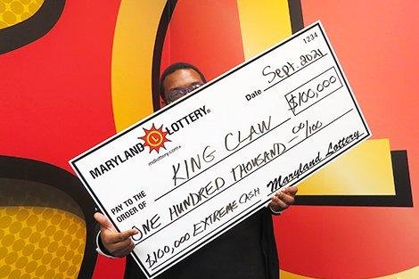 A Salisbury, Md., man said the accidental purchase of two Powerball tickets led to his buying the scratch-off lottery ticket that earned him $100,000. Photo courtesy of the Maryland Lottery