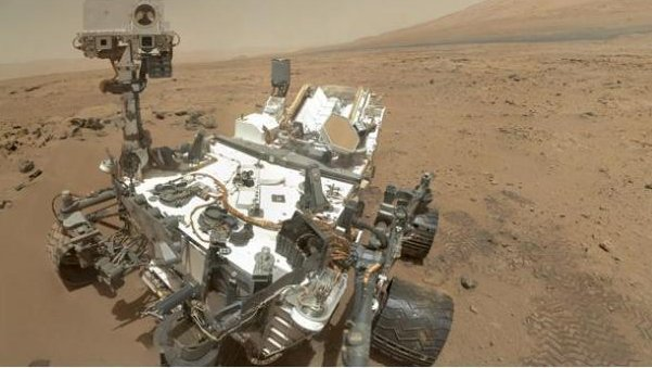On Sol 84 (Oct. 31), NASA's Curiosity rover used the Mars Hand Lens Imager to capture this set of 55 high-resolution images, which were stitched together to create this full-color self-portrait. Credit: NASA/JPL-Caltech/Malin Space Science Systems