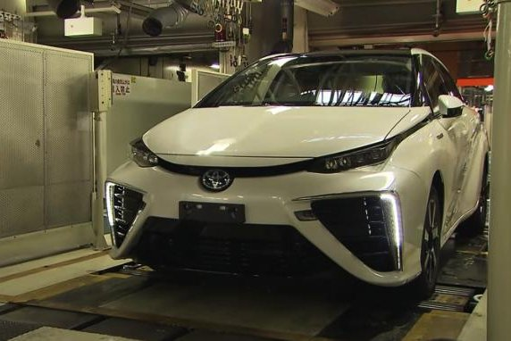 Toyota Mirai in the factory. Image by Toyota.
