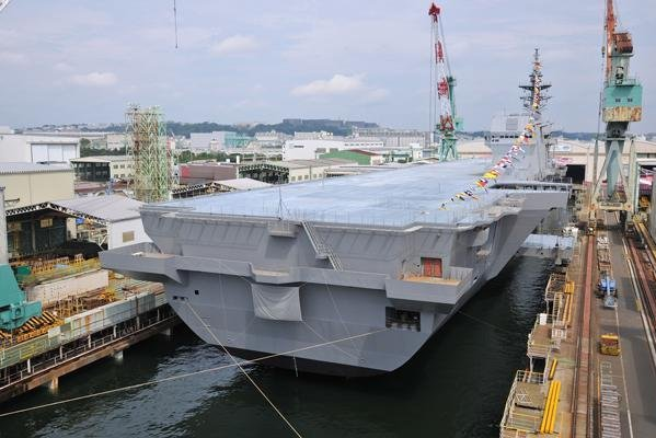 Izumo, Japan's biggest warship since World War II, was commissioned to carry helicopters in March. The ship can accommodate up to 470 personnel. File Photo courtesy of Japan Ministry of Defense