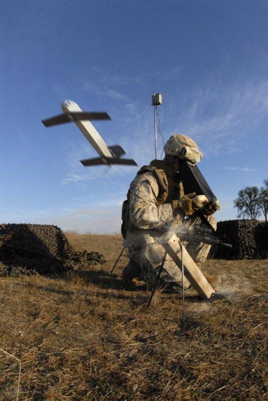 The Switchblade tactical missile system heads downrange. Photo courtesy AeroVironment