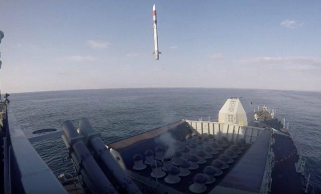 An MBDA Sea Ceptor is launched from a Royal Navy frigate. Photo courtesy of MBDA