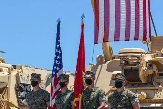 Alpha Company, 4th Tank Battalion, 4th Marine Division of the Marine Corps Reserve held a deactivation ceremony at Camp Pendleton, Calif., on July 18, 2020.  Photo courtesy of Marine Corps Base Camp Pendleton/Facebook