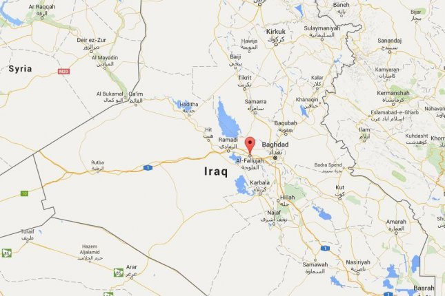 The Islamic State's commander in Fallujah was killed in an airstrike, the U.S. military announced. Screen capture from Google maps