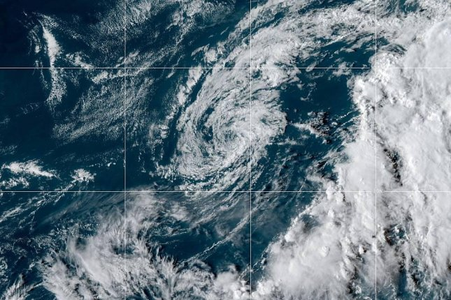 Tropical Storm Jerry is expected to pass just north and west of Bermuda on Wednesday. Photo courtesy of NOAA