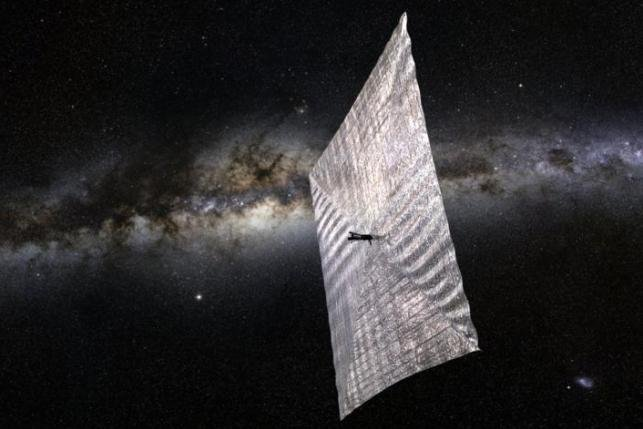An illustration shows Planetary Society's LightSail solar sailing spacecraft. Photo by Josh Spradling/The Planetary Society