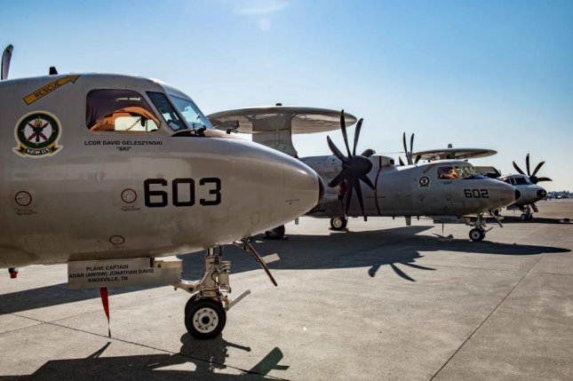 The government of France plans to upgrade three E-2C Hawkeye Airborne Early Warning Aircraft by July 2019. U.S. Navy photo by Mass Communication Specialist 3rd Class Matthew C. Duncker