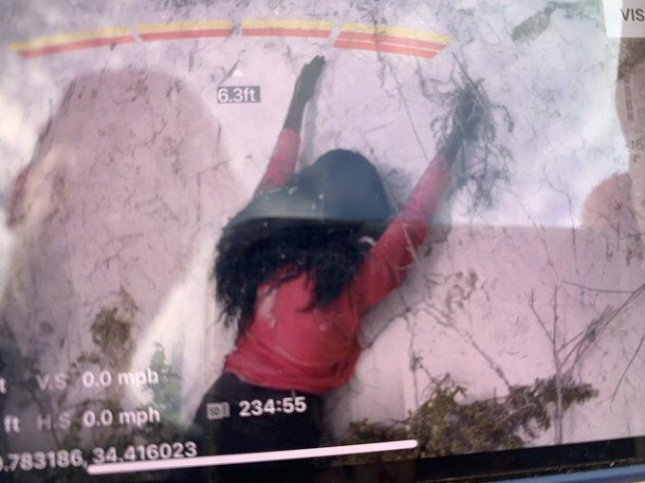 The Santa Barbara County Fire Department said a reported woman stranded on the side of a cliff over Hope Ranch Beach turned out to be a mannequin left behind after a movie shoot days earlier. Photo courtesy of SBCFireInfo/Twitter