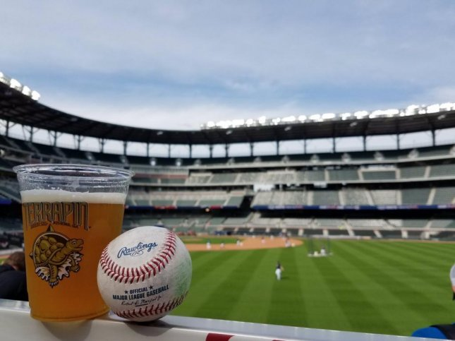Georgia-based Terrapin Beer Company will offer four ballpark exclusive beers as the Braves play their first official game at the new SunTrust Park, including the Chopsecutioner Bat Wood Aged IPA, which is a version of the brewery's Hopsecutioner aged on Mizuno baseball bat chips. Photo courtesy Terrapin Beer Co.