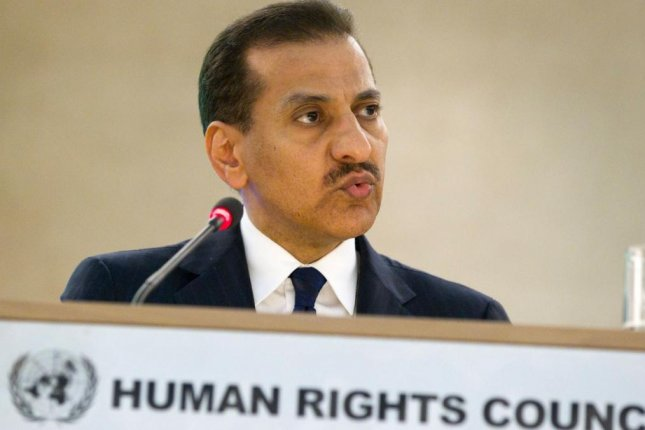Bandar bin Mohammed Al-Aiban, Saudi Arabia's human rights commissioner, was on the hot seat on Monday in Geneva at the United Nations' Universal Period Review. File Photo by salvatore Di Nolfe/EPA-EFE