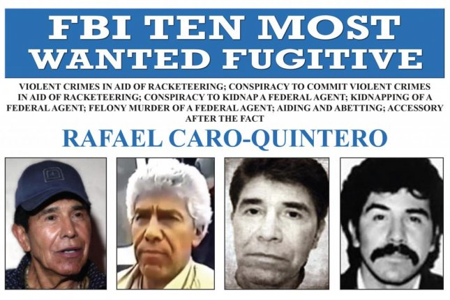 Rafael Caro-Quintero added to ten most wanted fugitives list
