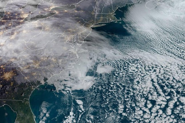 The storm is first expected to spread rain and ice before dropping snow. Photo courtesy of NOAA