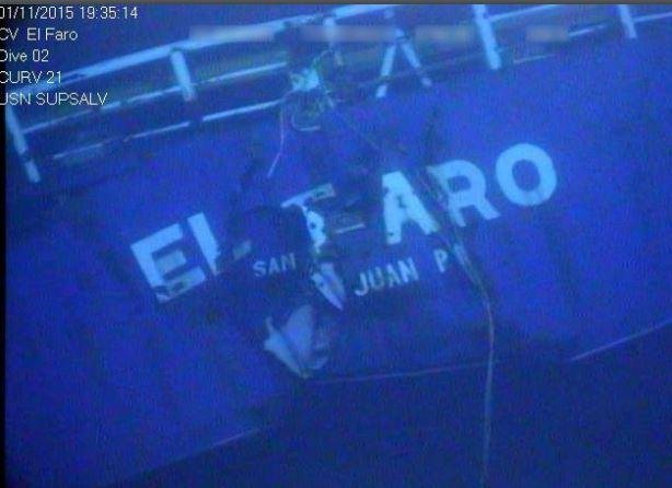 The El Faro cargo ship was found 15,000 feet deep, not far from its last known location near Crooked Island, Bahamas. Photo courtesy National Transportation Safety Board