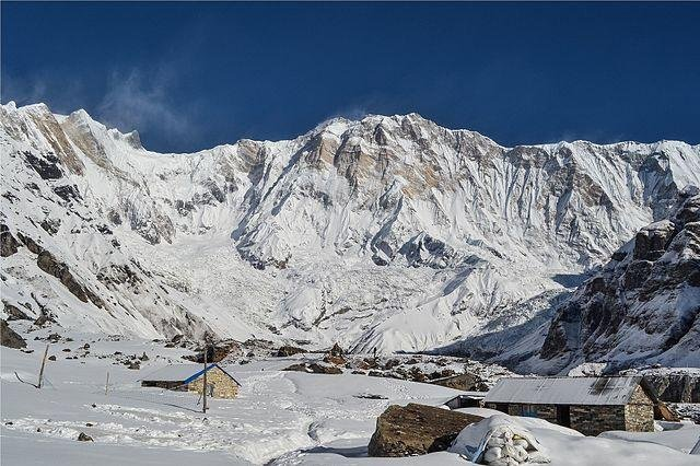 Seven are missing after an avalanche Friday near the Annapurna base camp in Nepal. Photo by Samdesherpa/Wikimedia