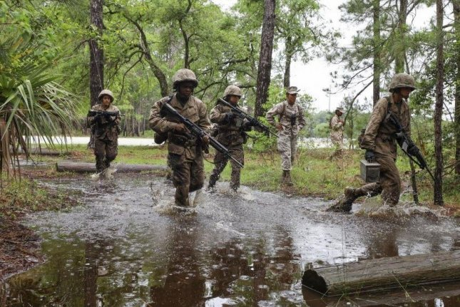 U.S. Marine recruits train at Parris Island, S.C. The Marines announced that, starting Sept. 1, photographs of individuals will no longer be part of selection or promotion packages, to decrease racial or other bias. Photo courtesy of U.S. Marine Corps