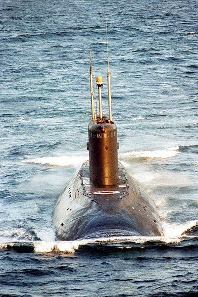 A Russian Navy Kilo-class, aka 877 class, submarine. (U.S. Navy photo)