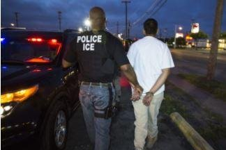 Since Jan. 20 -- when Donald Trump became president -- U.S. Immigration and Customs Enforcement has arrested 41,318 people known or suspected of being in the country illegally. Photo courtesy of ICE