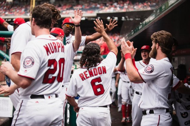 The Nationals' Anthony Rendon set club records with his three-homer, 10 RBI day on Sunday. Photo courtesy Washington Nationals via Twitter