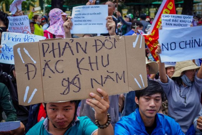 Protests in Vietnam have led to South Korea-owned factories suspending operations. Photo by EPA-EFE