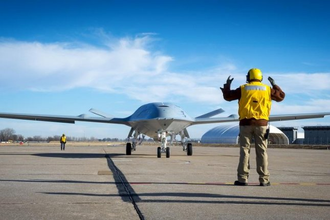 Boeing's MQ-25 unmanned aerial refueler, known as T1, was tested at Boeing's St. Louis site. Photo by Eric Shindelbower/Boeing