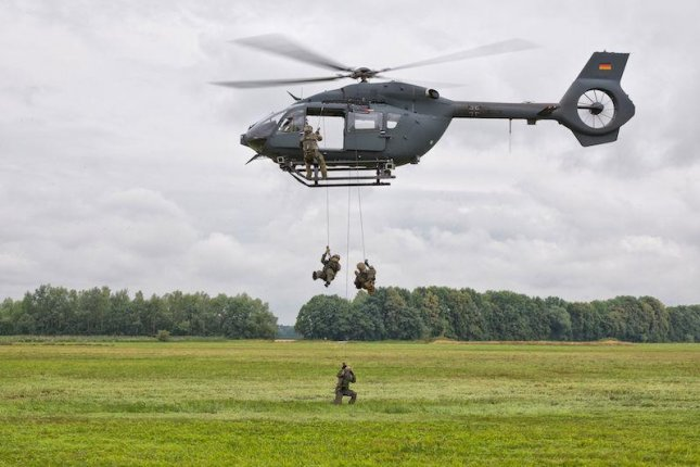 German special forces exiting a H145M helicopter. Photo Courtesy Airbus Helicopters.
