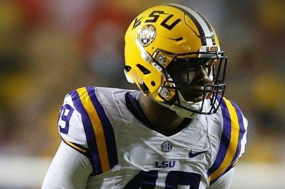 LSU junior Arden Key, who is rated as the top defensive end prospect by NFLDraftScout.com, won't be ready for the start of fall camp, coach Ed Orgeron said to open SEC Media Days on Monday. Photo courtesy of LSU Football/Twitter