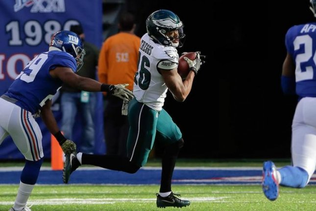 Philadelphia Eagles wide receiver Bryce Treggs (16) suffered a hamstring injury in Thursday's preseason loss to the New England Patriots. Photo courtesy of Philadelphia Eagles/Twitter