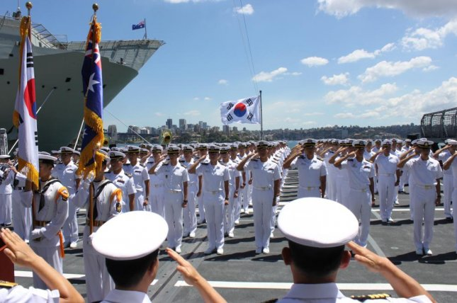 South Korea's navy wants to secure maritime trade routes in the Arctic regions, according to a local press report. File Photo by Yonhap/EPA