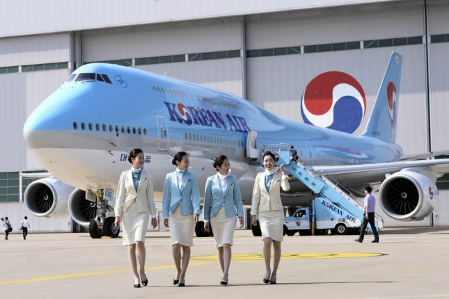 Korean Air flight attendants were sexually harassed by two defendants who were later released at Incheon airport on Thursday. File Photo by EPA
