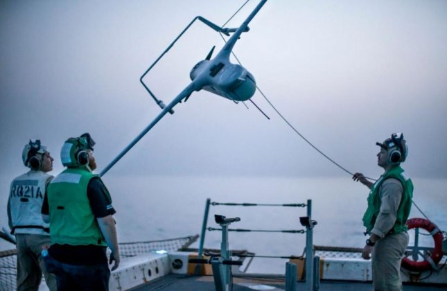 An RQ-21A Blackjack unmanned aerial system is launched from the USS John P. Murtha. ImSAR LLC recieved a $7.2 million Navy contract on Thursday for work on the vehicle's payload systems and communications relay package. Photo by Cpl. Adam Dublinske/U.S. Marine Corps