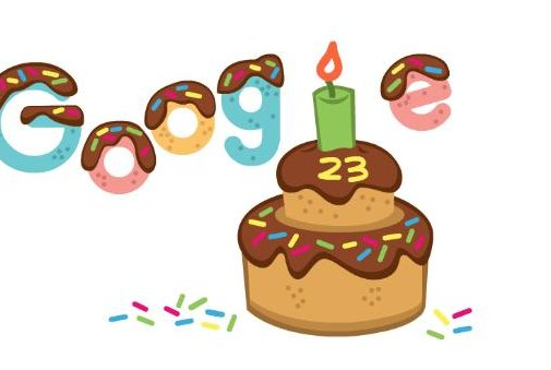 Google celebrates its 23rd birthday with new Doodle