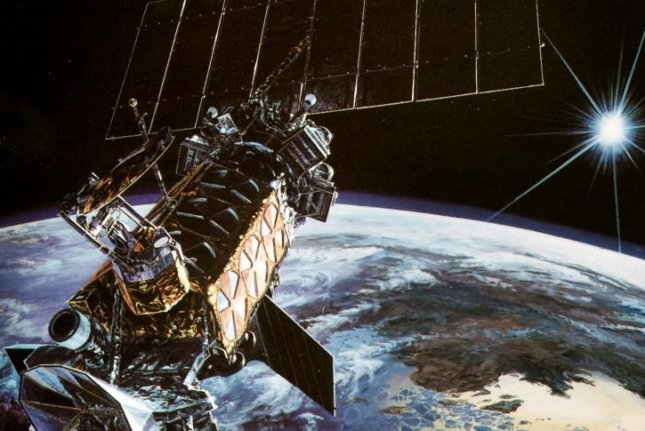 An illustration of a Defense Meteorological Satellite System (DMSP) craft. Photo by the U.S. Air Force