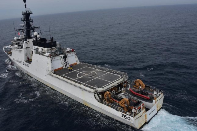The U.S. Seventh Fleet posted this photograph of the Coast Guard Cutter Bertholf in the Yellow Sea on Wednesday. Photo courtesy of United State Navy/Seventh Fleet