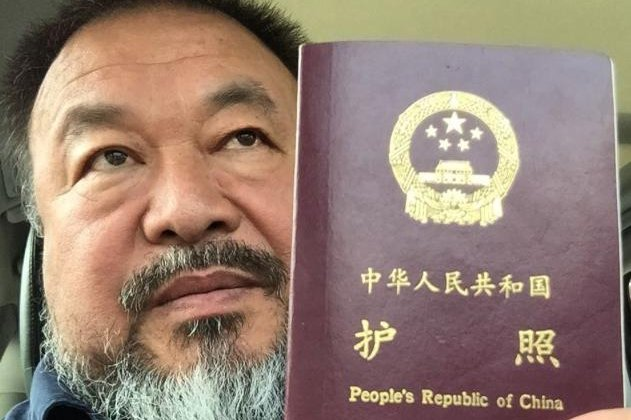 Chinese artist and dissident Ai Weiwei said the Chinese government gave back his passport Wednesday, four years after a crackdown on political activists. Photo courtesy of Ai Weiwei/ Instagram