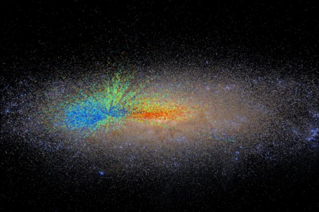 The new Milky Way map includes the age data of 70,000 stars. Photo by SDSS