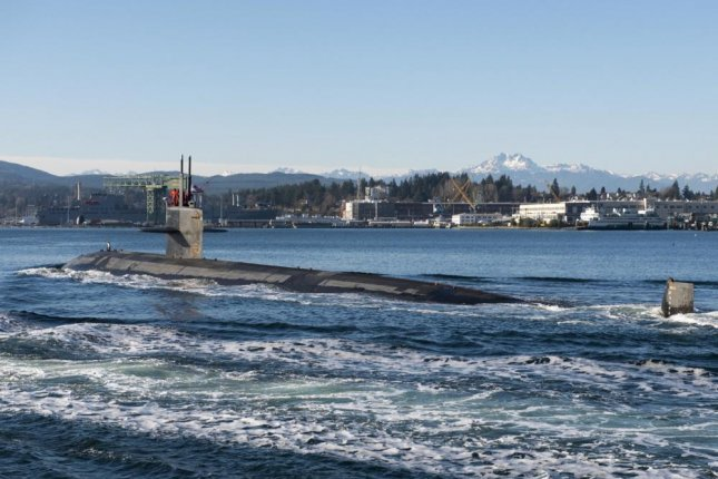 The USS Jacksonville arrives at Naval Base Kitsap-Bremerton for decommissioning. Photo by Master-at-Arms 3rd Class Taylor Ford/U.S. Navy