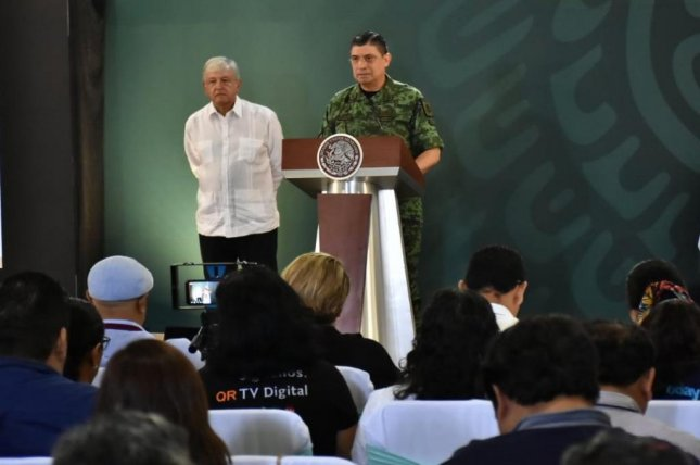 Mexico's Secretary of Defense Luis Cresencio Sandoval announced that nearly 15,000 troops had been deployed to the country's northern border. Photo courtesy of Mexico's Secretary of Defense Luis Cresencio Sandoval/Twitter