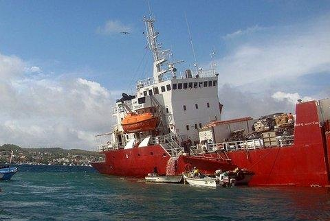 The grounded ship, Galapaface I, remains a threat to the ecosystem, Ecuador officials say. (Galapagos National Park)