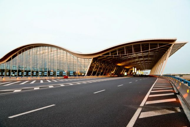A blast caused by home-made explosives injured four people at Pudong Airport in Shanghai, China. The airport is a major cargo hub in the world. File photo by ssguy/Shutterstock