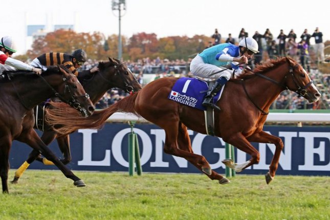 Cheval Grand, shown winning the 2017 Japan Cup, returns seeking a repeat victory in Sunday's renewal. Photo courtesy of Japan Racing Association