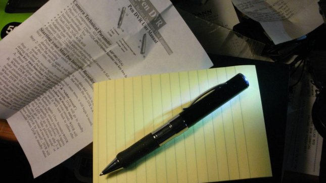 A portable usb digital video recorder disguised as a pen. (CC/Jack Keene)