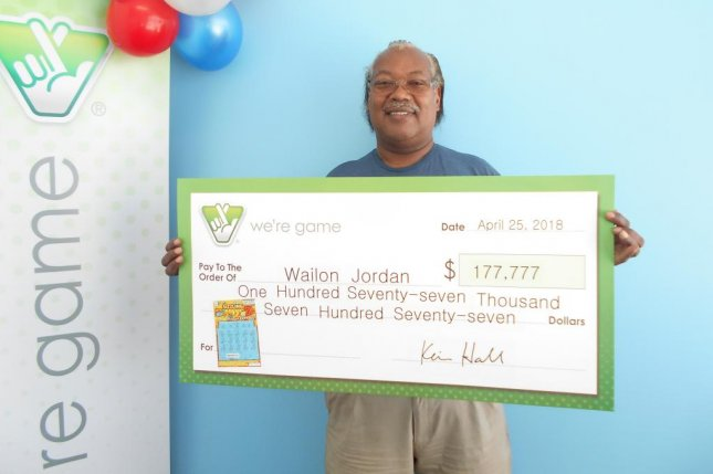 A Virginia man who won $177,777 from a scratch-off ticket previously won $1 million from a ticket he bought from the same clerk at the same store. Photo courtesy of the Virginia Lottery