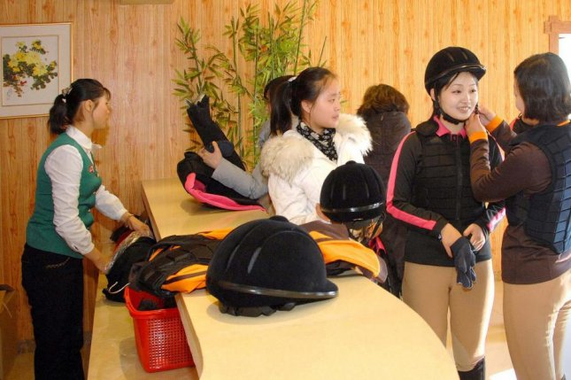 North Korean equestrians in Pyongyang in 2013. North Korean elites lead lives unimaginable to 95 percent of the North Korean population. Photo by KCNA/YOnhap