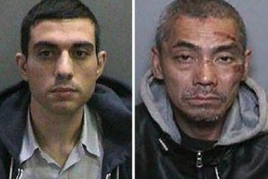 Bac Duong (right) surrendered to Southern California authorities on Friday following an 8-day manhunt for he and two other inmates who escaped from jail Jan. 22. Photo courtesy Orange County Sheriff's Office