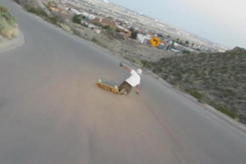 Watch: El Paso longboarder trips, falls off cliff - UPI com