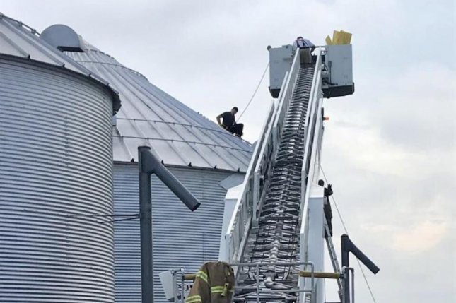 Two brothers died in a silo accident Saturday in Minnesota. Photo provided by Burlington Fire Department