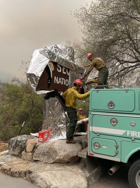 The KNP Complex fire is threatening the Sequoia National Park and its Giant Forest, prompting officials to close the park and evacuate staff. Photo courtesy InciWeb