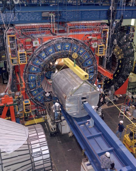 The Tevatron particle accelerator, via Wikimedia Commons.
