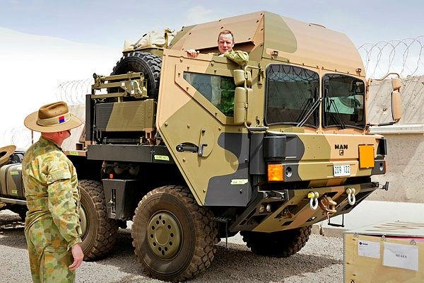 Australia's C-RAM served as indirect fire warning system to an air base in Australia since 2010. The radar is mounted atop a Piranha light armored vehicle. Photo courtesy Australian Defense Department